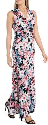 Vince Camuto Romantic Lilies Floral Maxi Dress