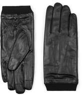 Topman Black Leather Gloves