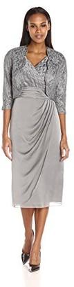Le Bos Women's Scallop Lace Jacket and Surplus Dress Set