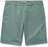 Nn07 - Crown Garment-dyed Stretch-cotton Twill Shorts