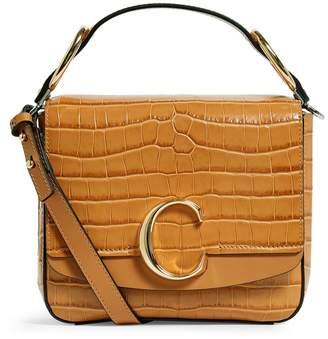 Chloé Small Crocodile-Embossed C Bag