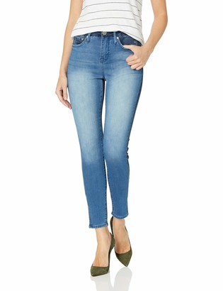 Seven7 Women's MID Rise Dual Indigo Shade Ankle Skinny
