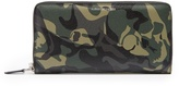 Alexander McQueen Camouflage-print leather travel wallet