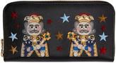 Dolce & Gabbana Black Leather Kings Wallet