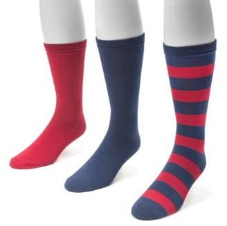 Muk Luks Game Day 3 Pair Pack Crew Socks