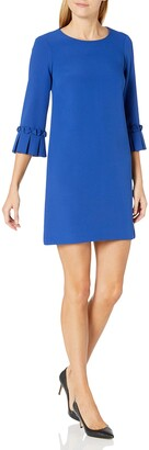 Tahari ASL Women's Oragami Sleeve Shift Dress