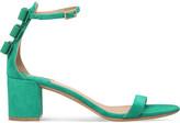 Salvatore Ferragamo x Edgardo Osorio Connie suede heeled sandals