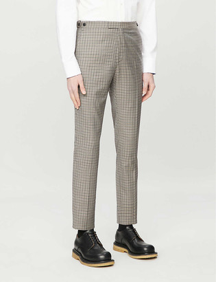Reiss Vallarta checked slim-fit wool trousers