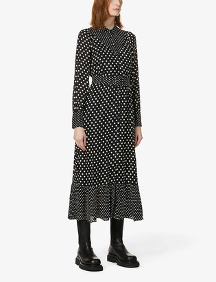 Whistles Limited Edition spotted silk shirtdress