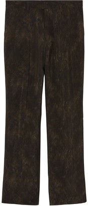 Burberry Relaxed Fit Animal Print Trousers
