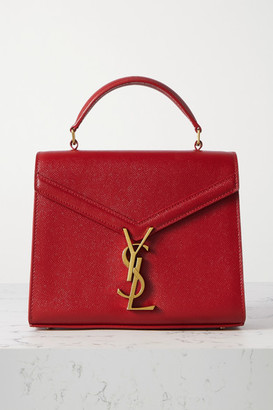 Saint Laurent Cassandra Mini Textured-leather Tote - one size