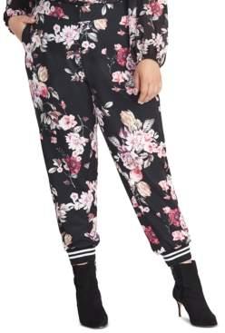 Rachel Roy Trendy Plus Size Eden Floral-Print Pants