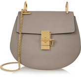 Chloé Drew Small Textured-leather Shoulder Bag - Gray