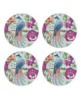 Denby Monsoon Kyoto Blue Round Coasters X4