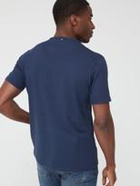 Pretty Green Mitchell Logo Short SleeveT-Shirt - Navy