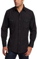 Wrangler Men's Tall Sport Western Snap Shirt in Dobby Stripe