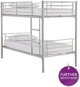 Kidspace Domino Metal Bunk Bed Frame With Optional Mattress