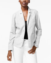 Eileen Fisher Striped Notch-Collar Blazer