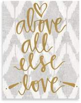 Love Above All Else Ikat Small Wall Art