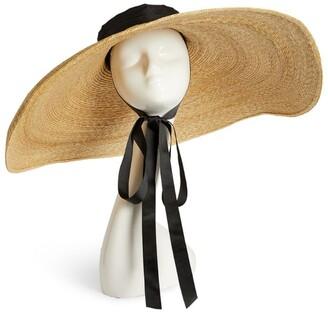 ELIURPI Straw Pamela Wide-Brim Boater Hat