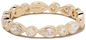 De Beers 18kt yellow gold Petal diamond band
