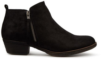 Head Over Heels Popee Side Zip Ankle Boots