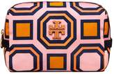 Tory Burch PRINTED NYLON MEDIUM COSMETIC CASE