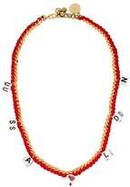 Venessa Arizaga Woven Chain & Bead Necklace
