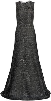St. John Embellished Net Knit Gown