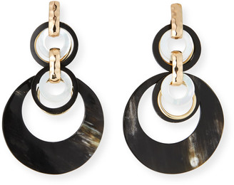 Akola Horn and Mother-of-Pearl Statement Earrings