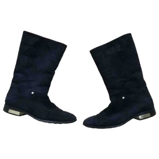 Christian Dior Navy Suede Boots