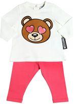 Moschino Bear Cotton Jersey T-Shirt & Sweatpants