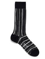 Ayame x Agi & Sam Navy Striped Wide Cotton-Blend Socks