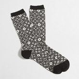 J.Crew Factory Snowflake winter-weight trouser socks