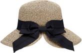 Simplicity Women's Sunhats Mix - Beige & Coffee Bow Straw UPF 50+ Sunhat