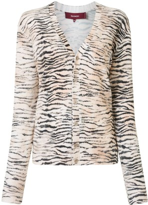 Sies Marjan Zebra Print Button-Up Cardigan