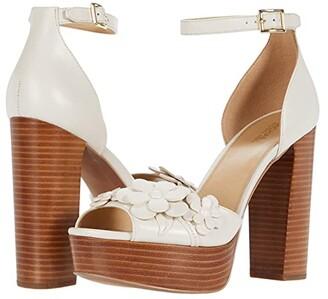 MICHAEL Michael Kors Flora Platform (Light Cream) Women's Shoes
