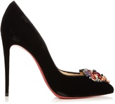 Christian Louboutin Diva Cora 100mm velvet pumps