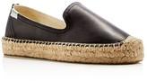 Soludos Women's Leather Smoking Slipper Platform Espadrille Flats