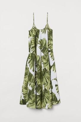 H&M Crinkled cotton dress