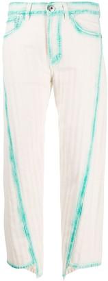 Lanvin Asymmetric Cropped Jeans