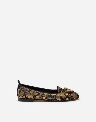 Dolce & Gabbana Jacquard Devotion Slippers