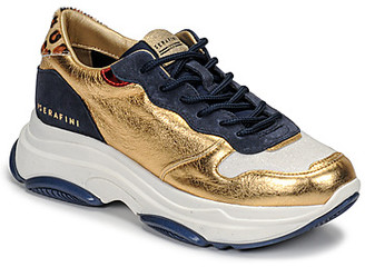 Serafini BROOKLYN women's Shoes (Trainers) in Gold