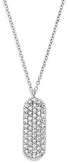 Bloomingdale's Kc Designs 14K White Gold Diamond Oval Necklace, 16