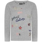 Ikks IKKSGirls Grey Applique Jersey Top