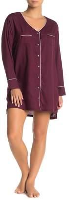 Splendid Contrast Piping Pajama Sleep Shirt