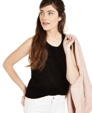 Charter Club Sleeveless Cashmere Sweater, Created for Macy's