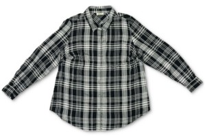 Style&Co. Style & Co Petite Plaid Twill Collared Shirt, Created for Macy's