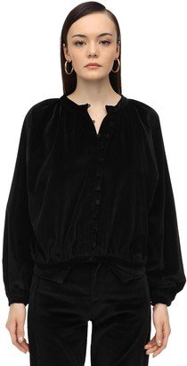 ÀCHEVAL PAMPA Long Sleeve Button Down Velvet Shirt