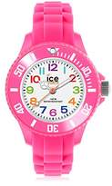 Ice Watch Ice-Mini Children's Size Ice-Watch White Dial Colourful Numbers Pink MN.PK.M.S